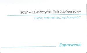 Inauguracja Kalasantyńskiego Roku Jubileuszowego.