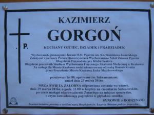 Pogrzeb kol. Kazimierza Gorgonia