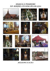 Pogrzeb ks. Dyrektora Stanisława Klasa – Bolszewo 24.10.2013